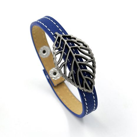 Leather Bohemia Geometric bracelet  (Blue double line)  Fashion Jewelry NHHM0013-Blue-double-line's discount tags