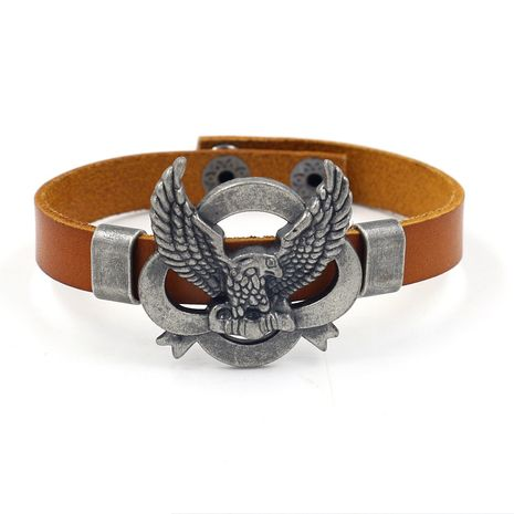 Leather Fashion Animal bracelet  (black)  Fashion Jewelry NHHM0017-black's discount tags