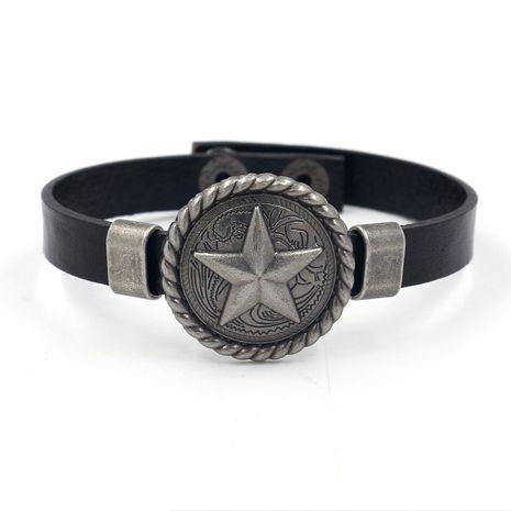 Leather Fashion Geometric bracelet  (black)  Fashion Jewelry NHHM0018-black's discount tags