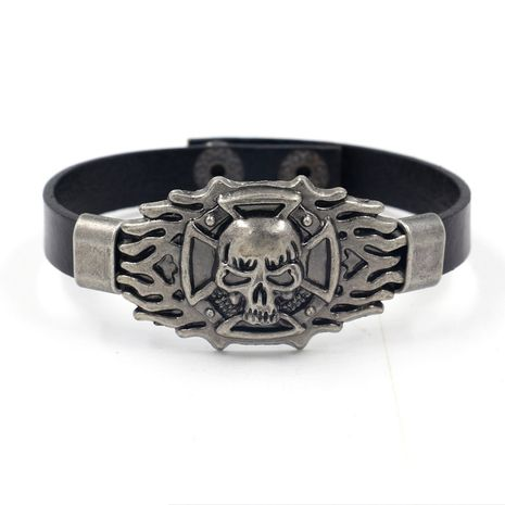 Leather Fashion Geometric bracelet  (black)  Fashion Jewelry NHHM0019-black's discount tags