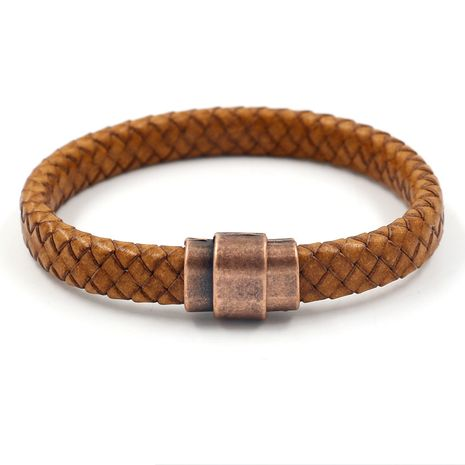 Leather Fashion bolso cesta bracelet  (Light Brown)  Fashion Jewelry NHHM0022-Light-Brown's discount tags