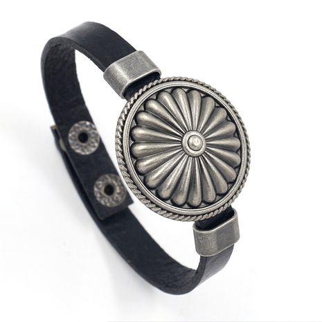 Leather Fashion Geometric bracelet  (black)  Fashion Jewelry NHHM0023-black's discount tags