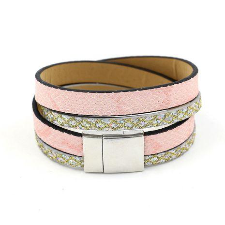 Leather Korea Geometric bracelet  (A color)  Fashion Jewelry NHHM0028-A-color's discount tags