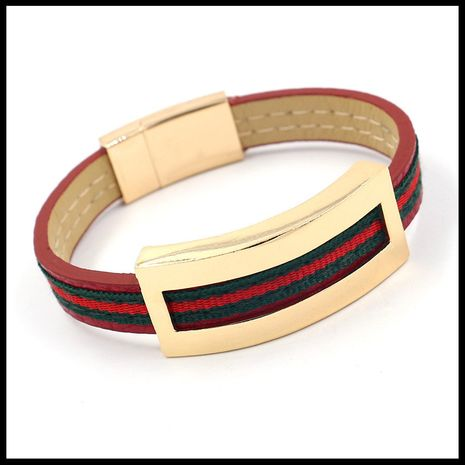 Cloth Fashion Geometric bracelet  (red)  Fashion Jewelry NHHM0031-red's discount tags