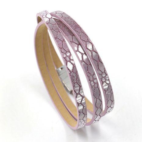 Leather Korea Geometric bracelet  (A color)  Fashion Jewelry NHHM0034-A-color's discount tags