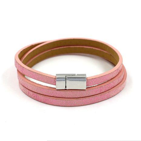 Leather Korea Geometric bracelet  (A color)  Fashion Jewelry NHHM0035-A-color's discount tags
