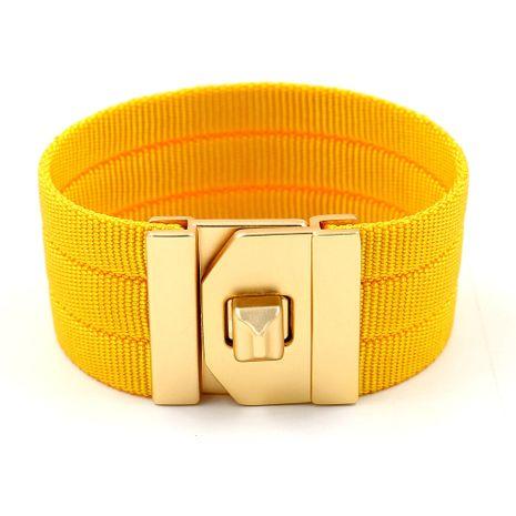 Cloth Fashion Geometric bracelet  (yellow)  Fashion Jewelry NHHM0042-yellow's discount tags