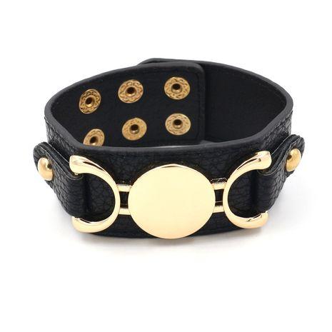Leather Fashion Geometric bracelet  (black)  Fashion Jewelry NHHM0043-black's discount tags