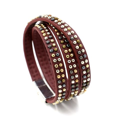 Leather Fashion Geometric bracelet  (red)  Fashion Jewelry NHHM0046-red's discount tags
