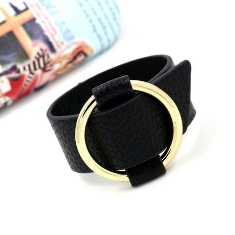 Leather Korea Geometric bracelet  (black)  Fashion Jewelry NHHM0052-black's discount tags