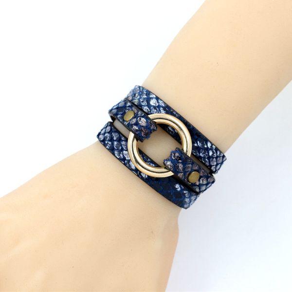 Leather Fashion Geometric bracelet  (A color)  Fashion Jewelry NHHM0053-A-color