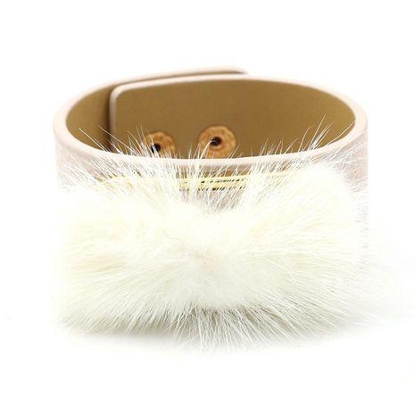 Leather Fashion Geometric bracelet  (white)  Fashion Jewelry NHHM0054-white's discount tags