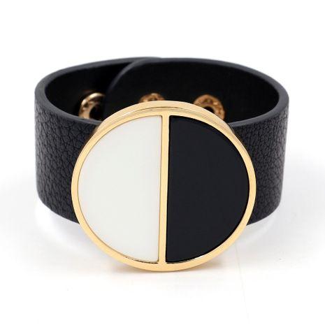 Leather Fashion Geometric bracelet  (black)  Fashion Jewelry NHHM0055-black's discount tags