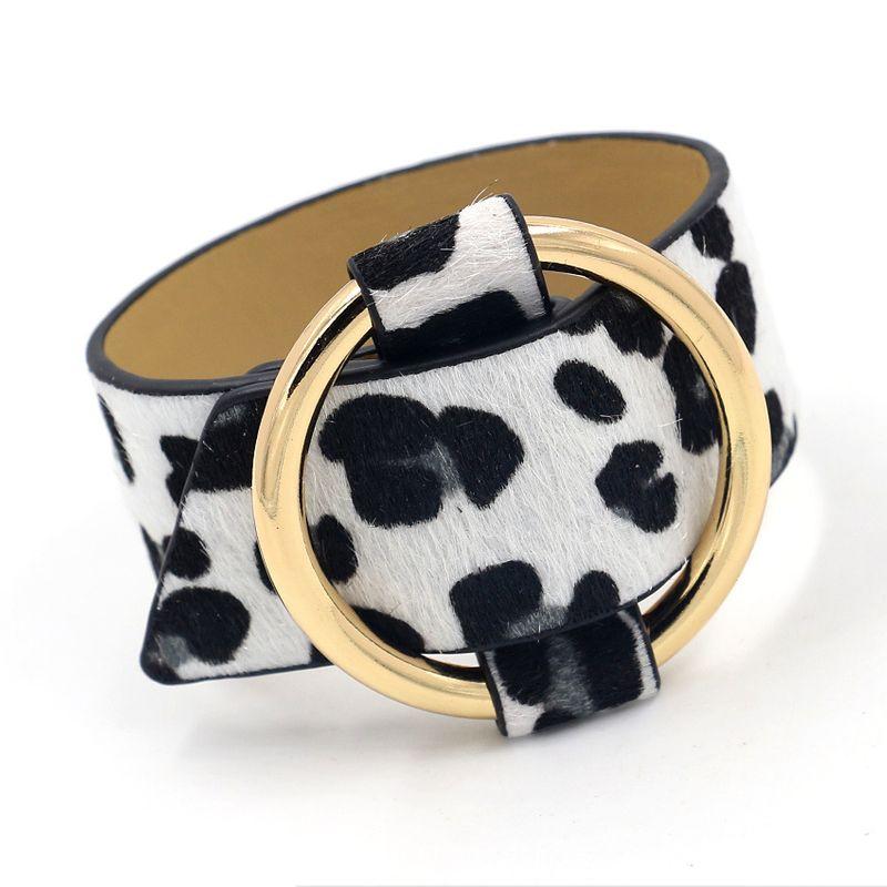 Leather Korea Animal bracelet  white  Fashion Jewelry NHHM0056white