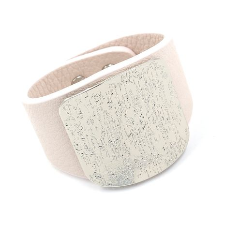 Leather Fashion Geometric bracelet  (white)  Fashion Jewelry NHHM0058-white's discount tags