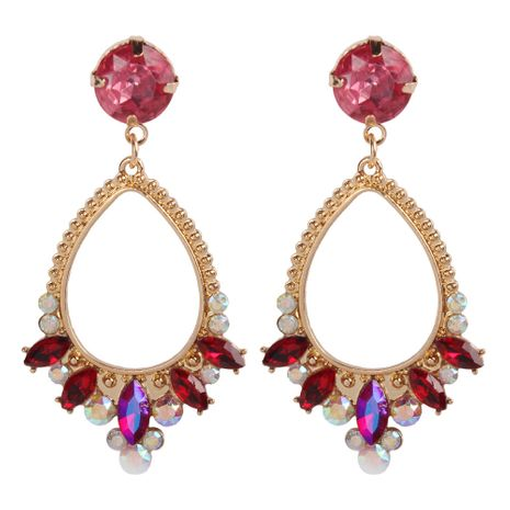 Alloy Fashion Cross earring  (red)  Fashion Jewelry NHMD5196-red's discount tags