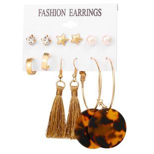Alloy Fashion Tassel earring  (GFA07-03)  Fashion Jewelry NHPJ0312-GFA07-03's discount tags