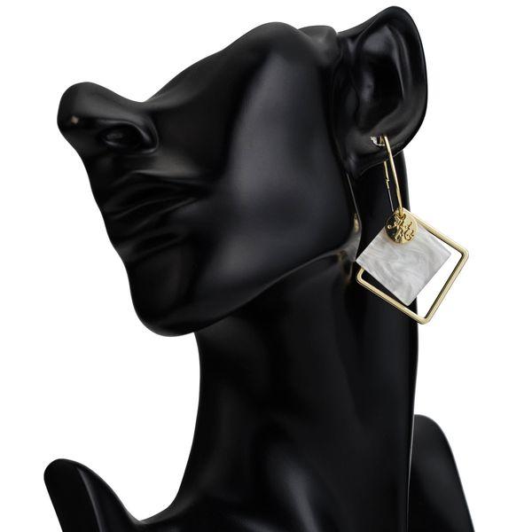 Alloy Fashion Geometric earring  (white)  Fashion Jewelry NHJE2663-white