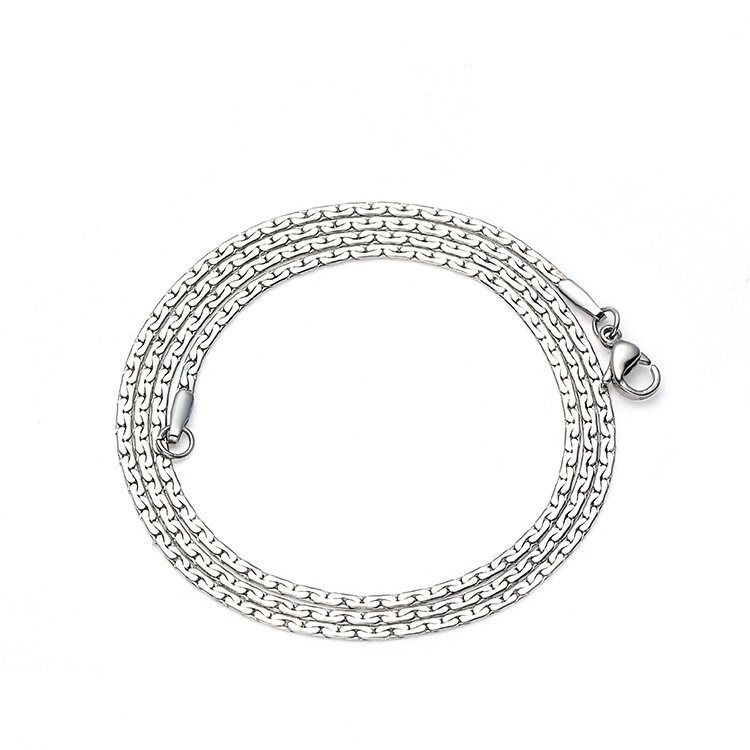 TitaniumStainless Steel Fashion  necklace  Steel color 2mmx50cm  Fine Jewelry NHIM1725Steelcolor2mmx50cm