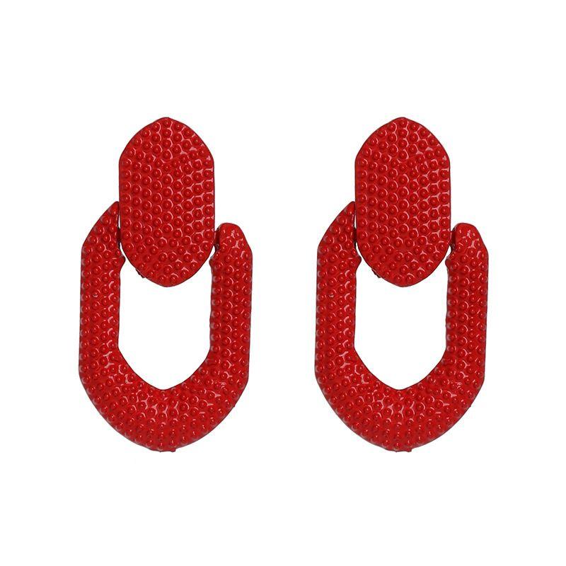 Alloy Fashion Geometric earring  (red)  Fashion Jewelry NHJJ5600-red