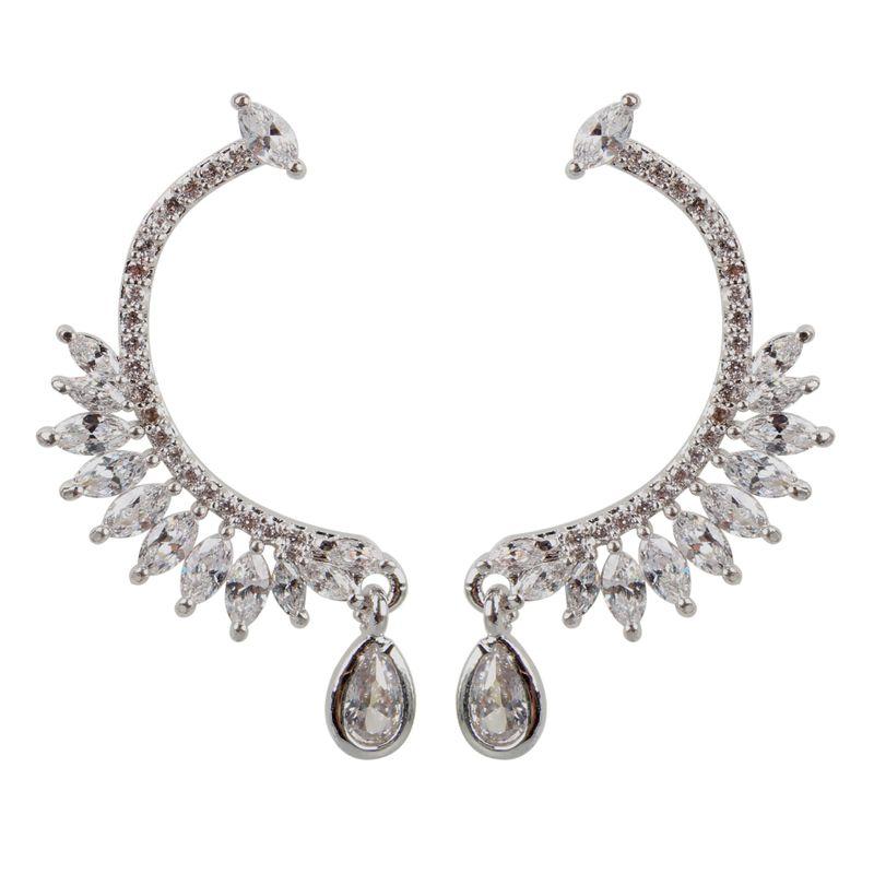 Copper Fashion Geometric earring  (platinum)  Fine Jewelry NHCT0481-platinum