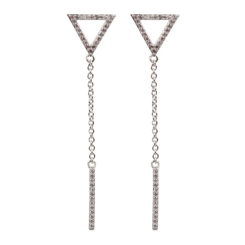 Copper Fashion Geometric earring  platinum  Fine Jewelry NHCT0485platinum