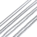TitaniumStainless Steel Fashion  necklace  Steel color 15mmx50cm  Fine Jewelry NHIM1700Steelcolor15mmx50cm