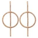Copper Fashion Geometric earring  Alloy  Fine Jewelry NHCT0464Alloy