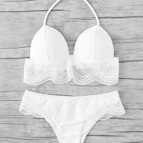 Maillot de bain Bikini Fashion Polyester (Blanc-S) NHHL1094-Blanc-S's discount tags