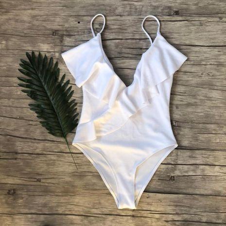 Maillot de bain Bikini Fashion Polyester (Blanc-S) NHHL1109-Blanc-S's discount tags