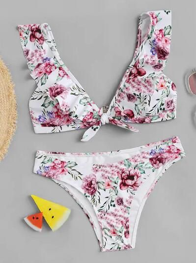 Polyester Fashion  Bikini  (Picture color-S)  Swimwear NHHL1221-Picture-color-S