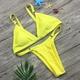 Polyester Fashion  Bikini  (White-S)  Swimwear NHHL1210-White-S