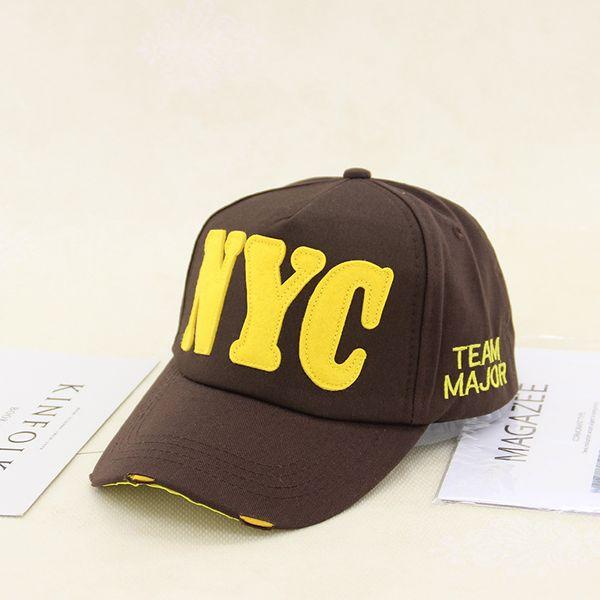 Cloth Korea  hat  (NYC Coffee + Yellow Character 008-25)  Fashion Accessories NHXB0563-NYC-Coffee-Yellow-Character-008-25