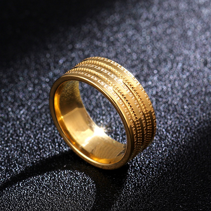 Titanium&Stainless Steel Simple  Ring  (Alloy-7)  Fine Jewelry NHIM1732-Alloy-7