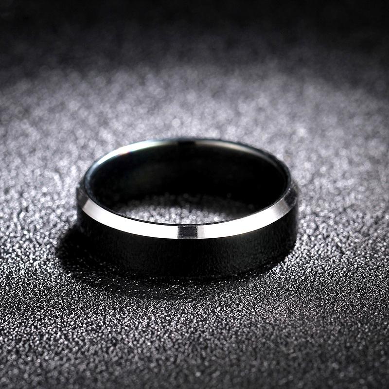 Titanium&Stainless Steel Fashion  Ring  (Black-7)  Fine Jewelry NHIM1741-Black-7