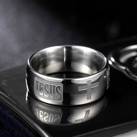 Titanium&Stainless Steel Fashion  Ring  (Steel color-7)  Fine Jewelry NHIM1742-Steel-color-7's discount tags