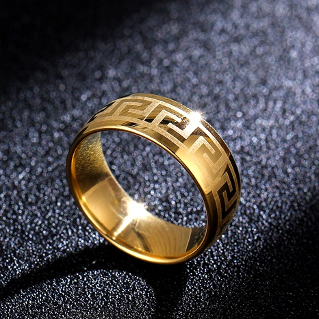 Titanium&Stainless Steel Simple  Ring  (Alloy-7)  Fine Jewelry NHIM1745-Alloy-7's discount tags
