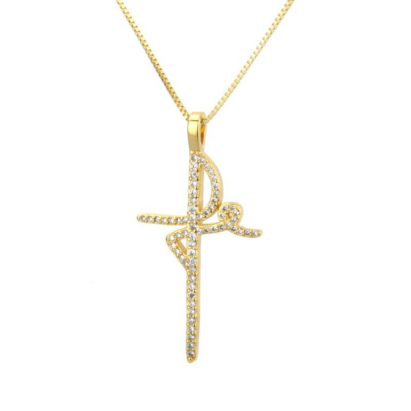 Copper Fashion Cross necklace  (Alloy plating)  Fine Jewelry NHBP0384-Alloy-plating