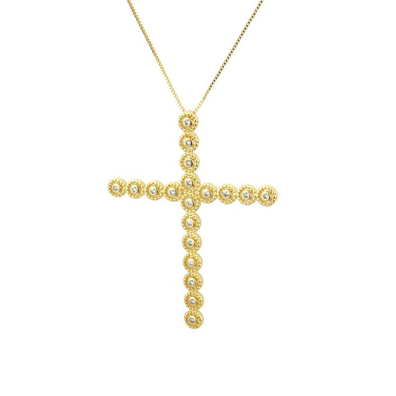 Copper Fashion Cross necklace  Alloy plating  Fine Jewelry NHBP0382Alloyplating