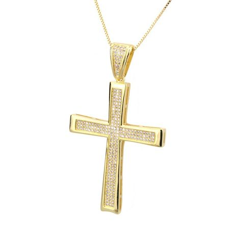 Copper Fashion Cross necklace  (Alloy-plated white zirconium)  Fine Jewelry NHBP0385-Alloy-plated-white-zirconium's discount tags