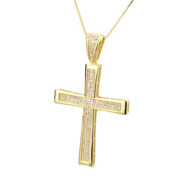 Copper Fashion Cross necklace  (Alloy-plated white zirconium)  Fine Jewelry NHBP0385-Alloy-plated-white-zirconium