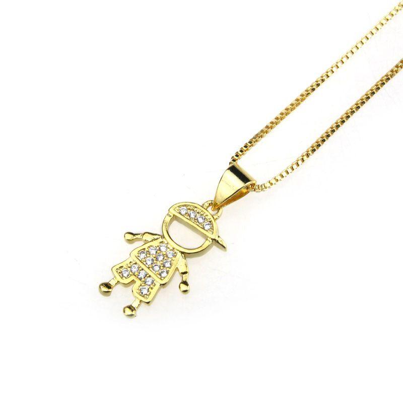 Copper Fashion Geometric necklace  (Gilded boy)  Fine Jewelry NHBP0402-Gilded-boy