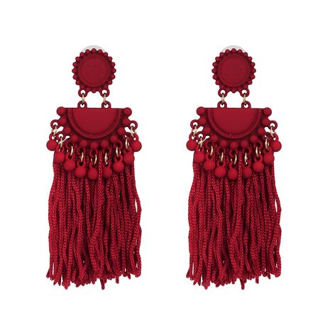 Alloy Fashion Tassel earring  (red)  Fashion Jewelry NHJJ5615-red's discount tags