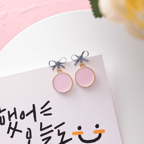 Alloy Korea Bows earring  (A pink)  Fashion Jewelry NHMS2236-A-pink's discount tags