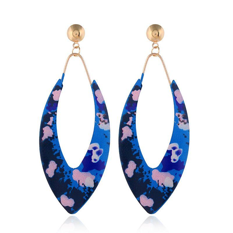 Alloy Fashion Geometric earring  (blue)  Fashion Jewelry NHVA5404-blue