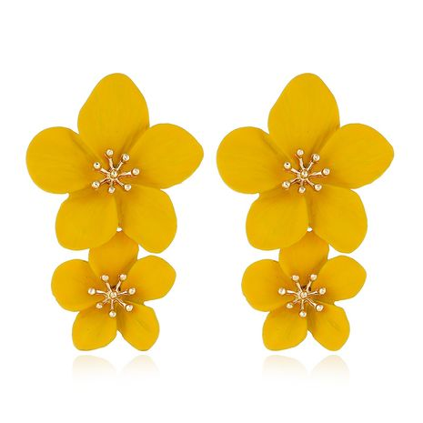 Alloy Fashion Flowers earring  (yellow)  Fashion Jewelry NHVA5406-yellow's discount tags
