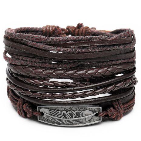 Leather Fashion bolso cesta bracelet  (GFL03-03)  Fashion Jewelry NHPJ0322-GFL03-03's discount tags