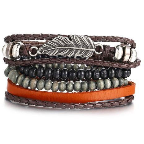 Leather Fashion Geometric bracelet  (GFH02-04)  Fashion Jewelry NHPJ0324-GFH02-04's discount tags