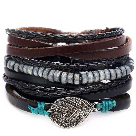 Leather Fashion Geometric bracelet  (GFK01-04)  Fashion Jewelry NHPJ0325-GFK01-04's discount tags