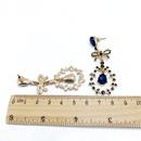 Alloy Fashion Flowers earring  Green ear clip  Fashion Jewelry NHOM1444Greenearclip
